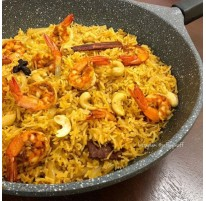Raffie's Nasi Beriani Udang recipe
