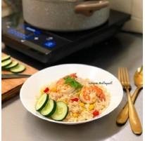 Raffie's Shrimp & Corn Fried Rice Recipe
