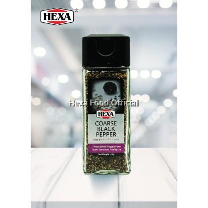 HEXA BLACK PEPPER COARSE (GLASS JAR) 45g