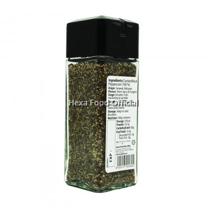 HEXA COARSE BLACK PEPPER (GLASS JAR) 45g