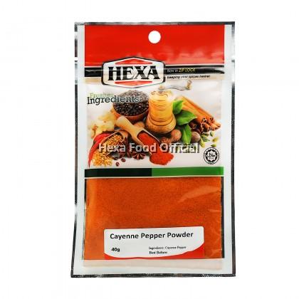 HEXA HALAL Cayenne Pepper Powder (Spicy Rating: 4 - 40,000 SHU) 40gm