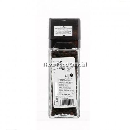 HEXA Black Pepper with Grinder (Glass Jar) 40g