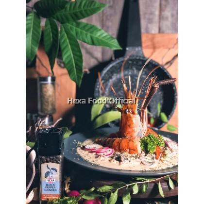 HEXA HALAL Black Pepper With Grinder (Glass Jar)40gm