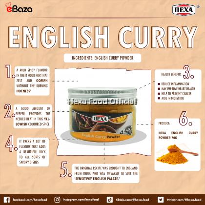 HEXA HALAL English Curry Powder 70gm