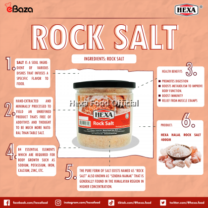 HEXA HALAL Rock Salt 400gm