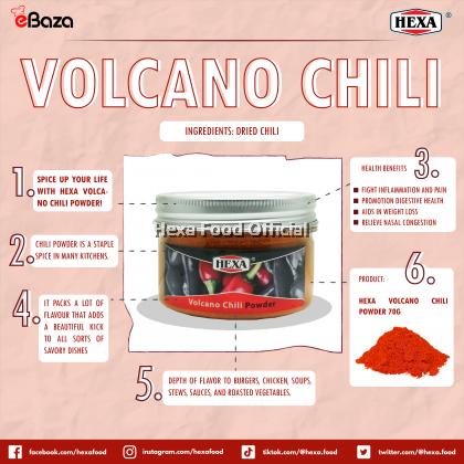 HEXA HALAL Volcano Chili Powder 70gm