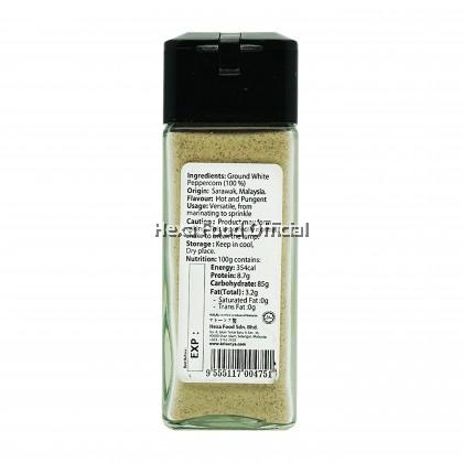 HEXA HALAL White Pepper Powder (Glass Jar) 45gm