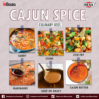 HEXA HALAL Cajun Spice Bottle 85gm