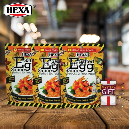 HEXA Salted Egg Sauce Powder Premix 80G*3 + FREE GIFT