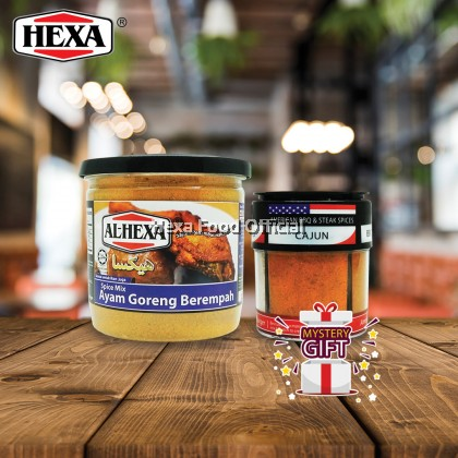 Hexa Ayam Goreng Berempah + American BBQ & Steak Seasoning (4 In 1) + FREE GIFT