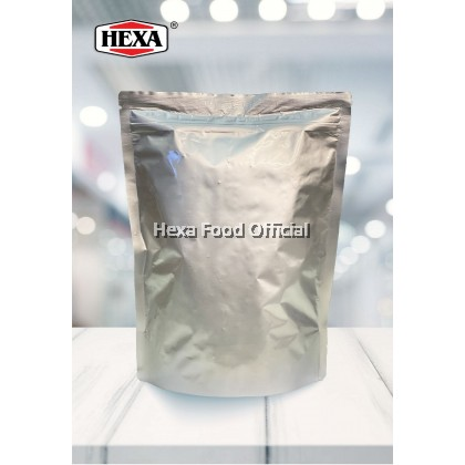 HEXA Salted Egg Fish Skin Chips 100g HIGH QUALITY + HALAL Salted Egg Sauce Powder Premix 80g