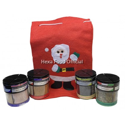 HEXA Christmas 4 IN 1 American 85g + British 85g + Italian 24g Bottles + Drinks 70g (4bottles) + FREE Christmas Pouch
